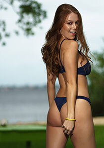Cheeky Cut Out with Mesh Straps in Navy 277-6320-30100