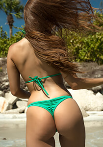 Classic Whaletail Thong in Kelly 222-7180-31100