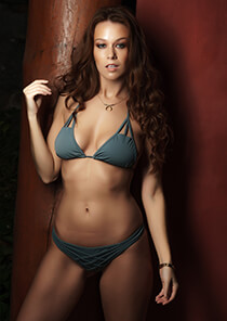 Cut Out Triangle Bikini Top in Slate 277-6400-73700