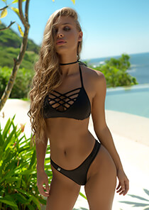 Strappy Bikini Bralette in Black 277-7020-73200