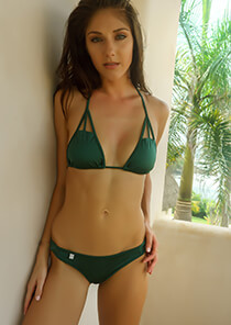 Cut Out Triangle Bikini Top in Rainforest 277-7280-73700