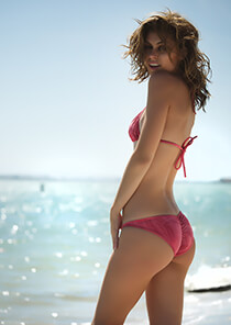Coral Tie Dye bikini full coverage pucker bottom 333-1063-32600