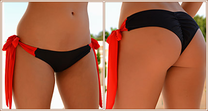 Tie Side Boy Short Bikini Bottom