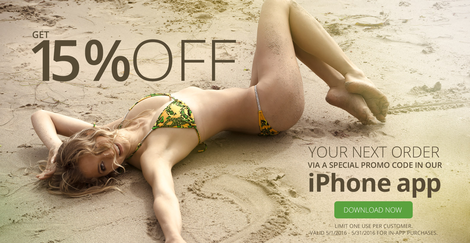 Get 15% off using our iPhone app!