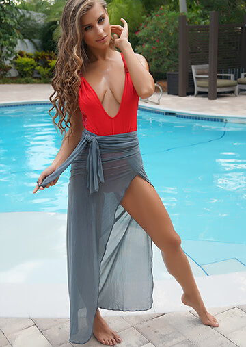 Long Wrap Skirt Cover-Up in Slate 556-5140-57200