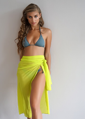 Short Wrap Skirt Cover-Up in Beat 556-5160-57800