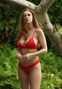 Red Bikini Surf Shortie Bottom 277-6550-44100