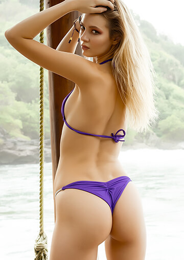 Half Pucker Neon Purple Bikini Bottom