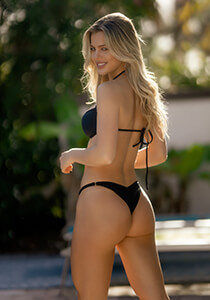 Brazilian Full Pucker Bikini Bottom in Black