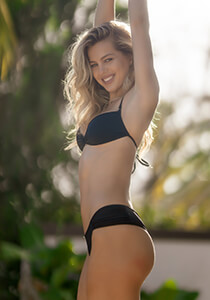 Boy Short Bikini Bottom in Black