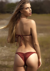 Brazilian Half Pucker Bikini Bottom in Brown