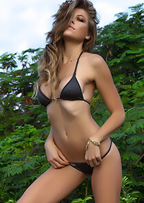 Enhanced Cut Triangle Bikini Top in Dark Gray