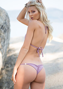 Brazilian Half Pucker Bikini in Smokey Mauve