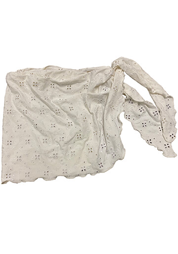 Teeny Sarong Cover-Up in White Eyelet