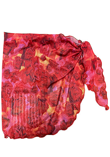 Teeny Sarong Cover-Up in Red Rose Mesh 556-5280-57000