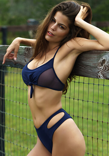 Knotted Mesh Bralette in Navy 277-6320-78100