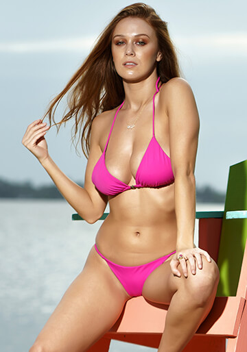 Seamless Micro String Triangle Bikini Top in Freeride 277-6580-73300
