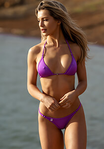 Classic Collection Mid-Rise Cheeky Thong in Purple Jam 222-7480-31300