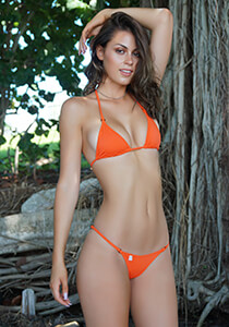 Enhanced Cut Triangle Top in Orange Crush with Copper Crystal O-Rings 331-6560-72000
