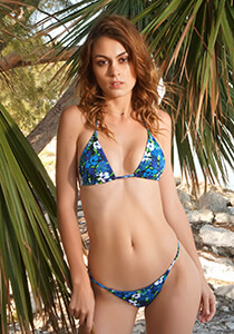 Blue Meadow - Seamless Micro String Triangle Bikini Top Copy 333-1087-73300