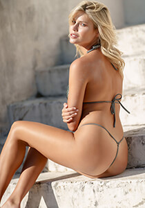 Pewter with Tribe Mermaid Mesh - Teeny Thong 334-8720-22000