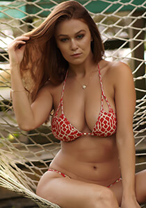 B.Luxe Bliss - Peek-A-Boo Triangle in TeenyB Original Print in Red Cream Honu 335-1022-71700