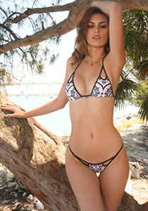Peek-A-Boo Triangle Top in TeenyB Original Baroque Print 336-9990-71700