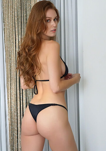 Downtown Solid Peek-A-Boo Cheeky in Black 331-7020-31700