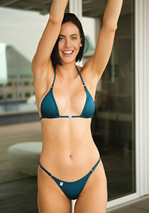Triangle Bikini Top in Shimmering Teal