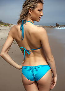 Our must-have Scrunch Butt Teal Bikini Bottom