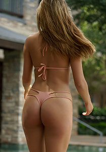 2-String Tri-Back Thong in Dusty Rose 277-6650-31600