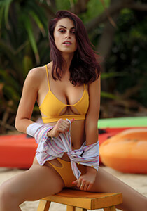 Banded Peek-A-Boo Bikini Top in Citrine 277-6660-91500