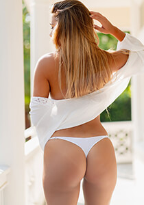 Downtown Solid Peek-A-Boo Cheeky in White 331-6010-31700