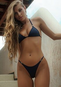B.Luxe Bliss - Mid-Rise Cheeky in Navy 336-6320-31300