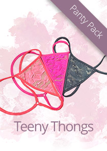 Teeny Lace Thong Panty Gift Set #1 120-0007-11200