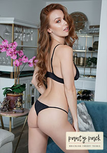 Cheeky Thong Panty Pack in Black 120-0015-12000
