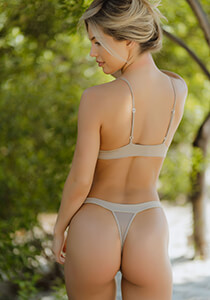Banded Tri-Back Thong Panty in Nude 120-5200-11900