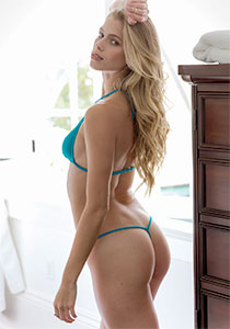 Teal Teeny Thong Lingerie Bottom