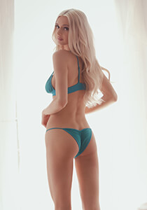 Teal Brazilian Panty with Scrunch Butt Detail