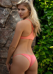 Brazilian Full Pucker Panty Lingerie in Flamingo 120-5150-14500