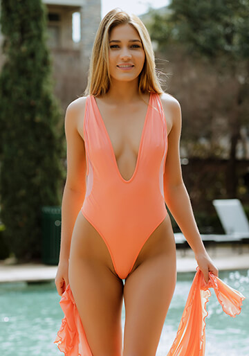 Tulum Plunge One Piece - Flamingo with Flamingo Gliss 119-6430-62000