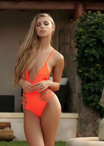 Mykonos Strappy One Piece in New Devil 119-6450-62400