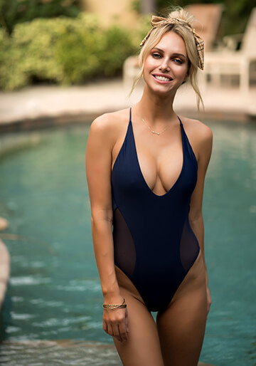 Mesh Side Panel One Piece in Navy 119-6320-62600