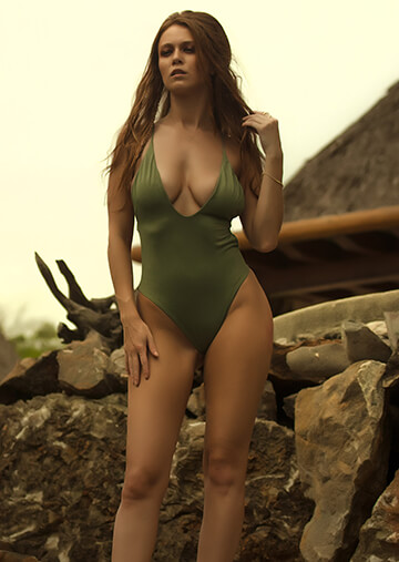 Santorini Plunge One Piece in Army 119-6480-62100