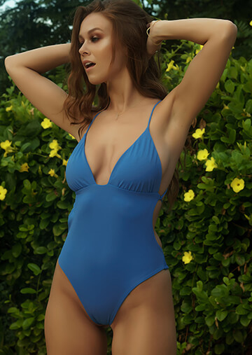 Monaco Ruched Cup One Piece in Sailor Blue 119-6500-62200