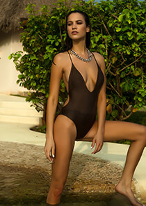 Santorini Plunge One Piece in Stardust 119-7320-62100