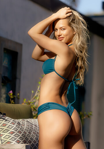 Boy Short Bikini Bottom in Teal