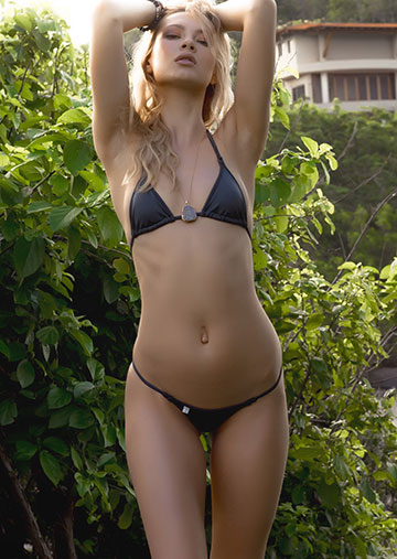Triangle Bikini Top in Dark Gray