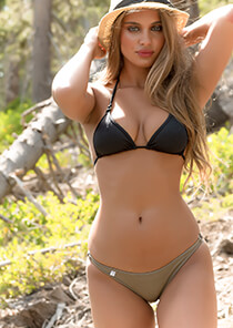 Full Pucker Bikini Bottom in Greyish Taupe