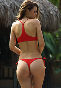 Seamless Thong Tie-Side in Red Coat 277-6550-31900